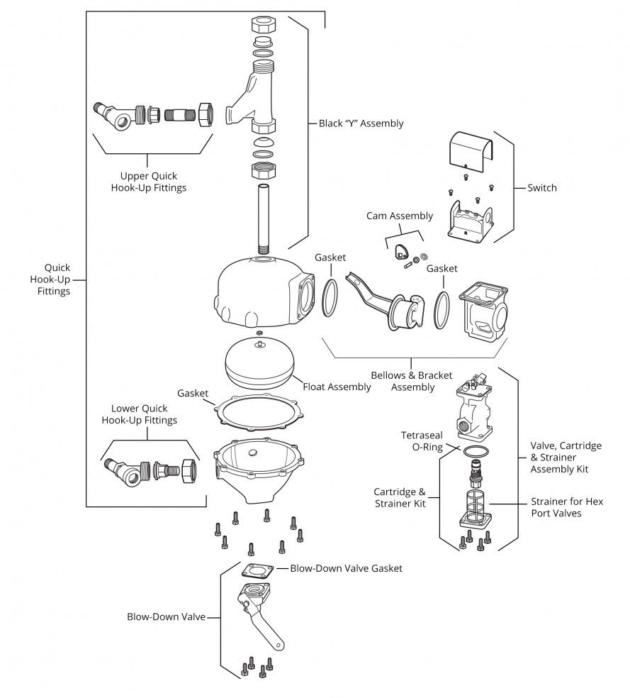 Mcdonnell Miller 132900 Model 47 2 M Water Feeder Lwco Delta Faucet Parts List And Diagram Ereplacementpartscom Make Up Exploded View
