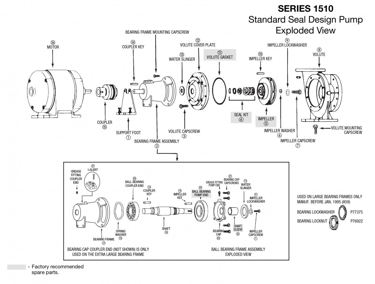 Bell and Gossett Series e-1510 End Suction Centrifugal Pumps