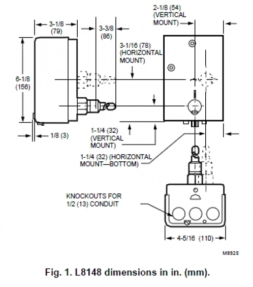 16022015 honeywell_l8148 aquastat_dimensions_498x diagrams aquastat wiring diagram wiring an aquastat honeywell aquastat relay l8148e wiring diagram at crackthecode.co