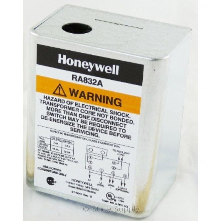 Honeywell RA832A1066 - 120V Hydronic Switching Relay on honeywell v8043e wiring, honeywell gas water heater control wiring, honeywell r845a relay wiring, modine pa heater wiring diagram, honeywell r845a wiring-diagram, primary secondary piping diagram, honeywell aquastat wiring-diagram, honeywell zone control wiring, honeywell low water cut off, relay switch wiring diagram, honeywell ra832a how it works, honeywell chart recorder manual, honeywell motorized valve wiring diagrams,